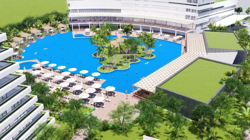 Kıbrıs İskele'de Denize 450 metre Kendi Casinosu, Su Kaydıraklı Kıbrıs'ın En Büyük Havuzuna Sahip Ultra Lüks Stüdyo, Rezidans