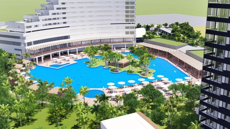 Kıbrıs İskele'de Denize 450 metre Kendi Casinosu, Su Kaydıraklı Kıbrıs'ın En Büyük Havuzuna Sahip Ultra Lüks 4+1 Dubleks Rezidans