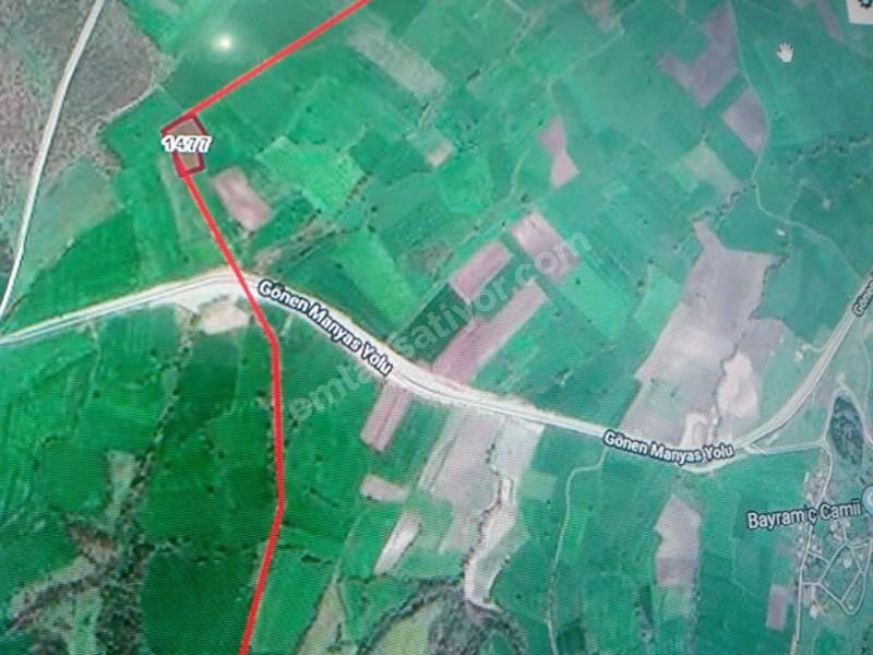 Mekan emlak gayrimenkul,den Gönen Bayramiç Köyün,de 55,400 m2 Satılık tarla