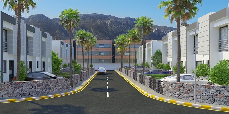 Kıbrıs Girne Alsancak Merkezde Plajlar Bölgesinde 2+1 Lüks Dubleks Villa Projesi