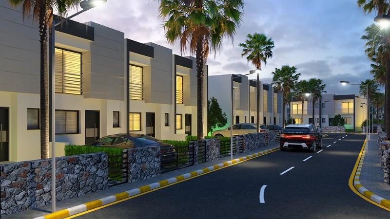 Kıbrıs Girne Alsancak Merkezde Plajlar Bölgesinde 3+1 Lüks Dubleks Villa Projesi