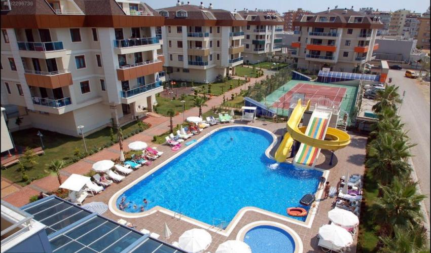 Property in Alanya - Selling a big 1+1 apartment in cozy OBA TRİO RESİDENCE 1+1