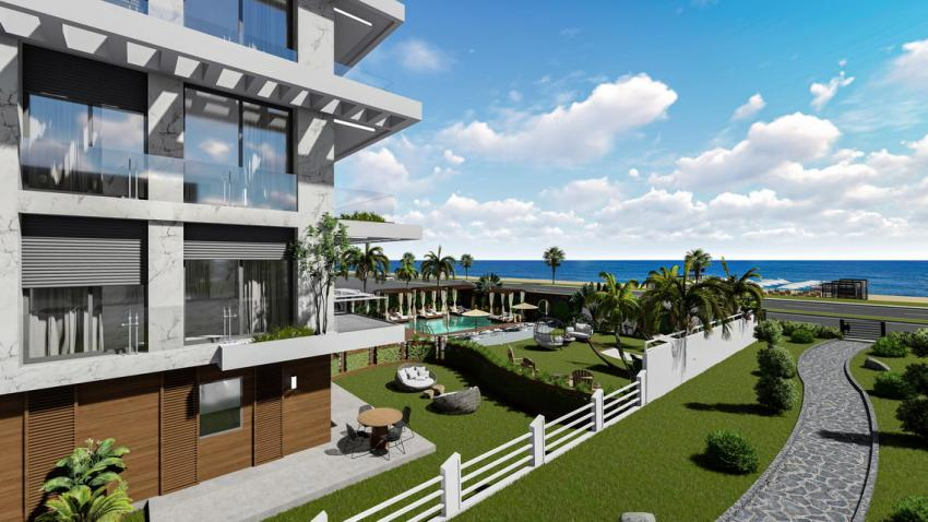 New Project Near The Sea in Kestel With SEa View 1+1  2+1