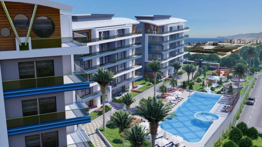 New luxury project in Kargicak Alanya with non-interested installment